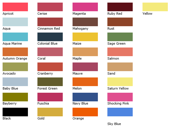 Candle Color Chart 1