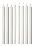 White Tapered Candles (8 per pack)