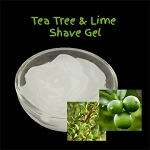 Organic Shaving Gel - Tea Tree and Lime
