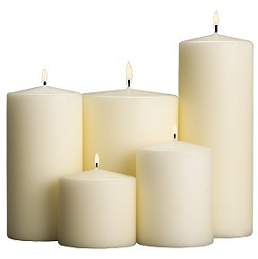 Emergency and Stock Unscented Candles