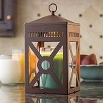 Mission Candle Warmer Lantern - Brown
