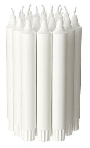 Chandelier White Candle 5-pc set